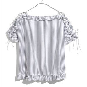 Madewell Ruffle Lace Up Top